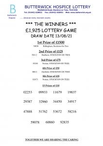 13.08.21 Lottery