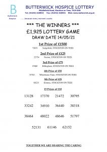 14.05.21 Lottery